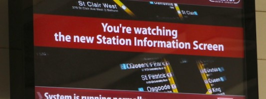 Watch TTC subway screens for CPE!
