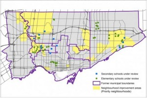 TDSB closings map Torontiist (2)